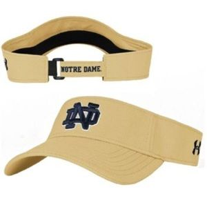 Men's Gold Notre Dame ND Visor